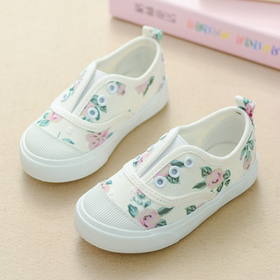 9f32bdfa2 Tom Rabbit Children s canvas shoes girl shoe baby shoes One foot pedal  little white shoes
