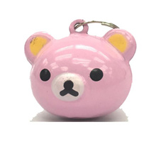 Cat  Dog Collar Bell Pink Bear Design 2pc