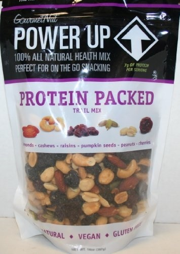 Gourmet Nut POWER UP - Protein Packed - Vegan, Natural, Gluten Free, Pack  of Two 14 oz