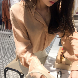 [CHERRYKOKO官方旗艦店] V-neck Loose-fit Blouse / come around blouse