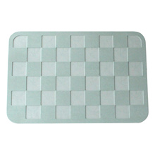 Francfranc diatomaceous earth bus mat green check