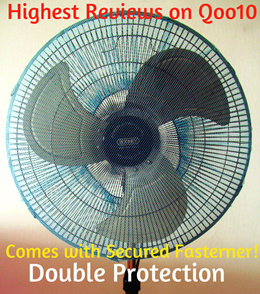 BABY SAFETY Fan Protector / Fan Safety Net for Standing Fan / Stand Fan and Table Fan (Blue)