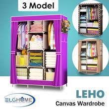 【LEHO】Canvas Wardrobe Organizer/Cupboard/High Capacity Home Organizer/Stylish Clothes Storage