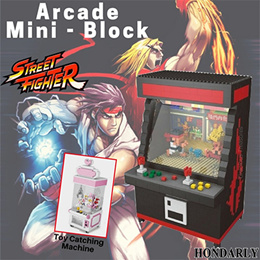 Arcade Mini Block Street Fighter Toy Catching Games Model Educational Blocks Brinquedos Toys Gift