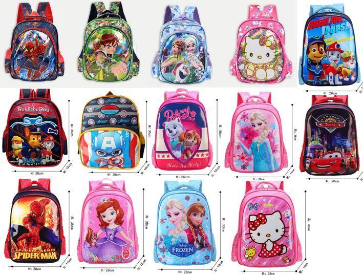 b7fe001a4241 Qoo10 - School Bag Kids backpack Frozen Spiderman HelloKitty   Toys