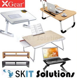 Xgear Foldable Portable Laptop Desk Table Adjustable Lap Tray Bed Monitor Stand Tripod Holder