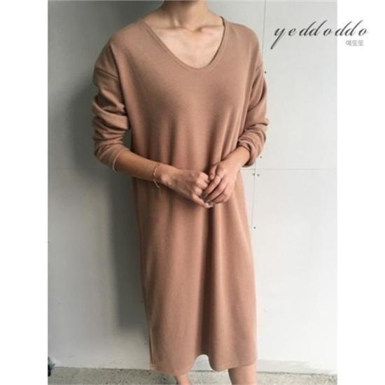 はいトト行き来するようにはいトトシンプルニット・ワンピース プリントのワンピース/ 韓国ファッション