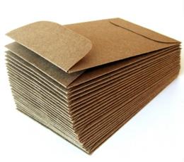 500 High Quality Brown Kraft Envelope - Peel and Seal. No Glue or water needed