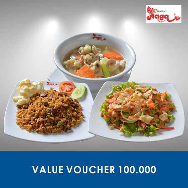 [FOOD] Bakmi Naga Resto Value Voucher 100.000 Deals for only Rp70.000 instead of Rp100.000