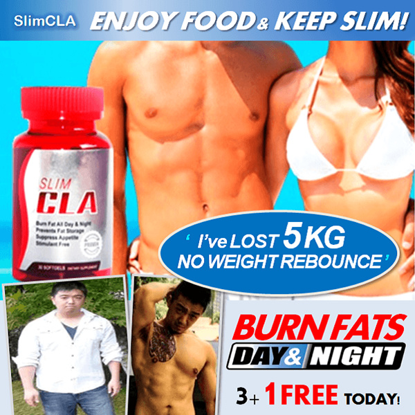 $9.90 1DAY SALE!! 3+1 FREE Slim CLA/ CarbBloc!?ENJOY FOOD N KEEP SLIM! BURN FATS ALL DAY ALL NIGHT!? Deals for only S$25 instead of S$0