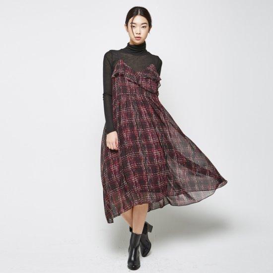 ナインNAINモチーフシフォン布留ワンピースLXOP3035 面ワンピース/ 韓国ファッション