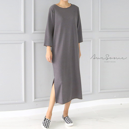 オーサムエールシンプルゴルジワンピース231926 綿ワンピース/ 韓国ファッション