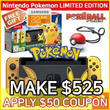 [Limited Edition] 1 Year Warranty!! Pokemon Nintendo Switch Console System Bundle Pokemon Lets Game