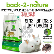 *RE* *re* Small Animals litter and bedding by back-2-nature in 3 sizes made from recycled paper environmentally friendly