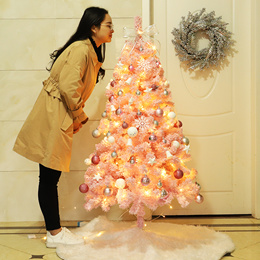 Christmas Tree Xmas Decoration Pink Cherry Blossom Christmas Tree Package Festive Lights Decorations