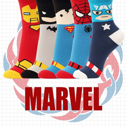 Made IN Korea Marvel Licence Authentic No Show Socks Cew Women Men Flat Price Pack of 5 Pairs