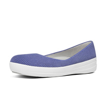 FITFLOP ADORA BALLERINA (PERF) LAVENDER BLUE ★100% Authentic★
