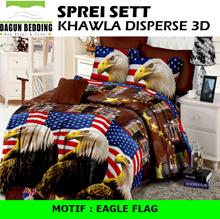 Sprei Khawla Disperse 3D  motif Eagle Flag