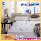 Negative Ion Mattress Topper / ProtectorNow Get the Takashimaya Voucher New product