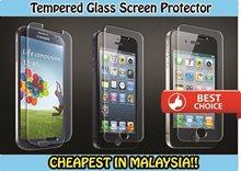 [Malaysia Seller]Tempered Glass Screen Protector Curved (0.3mm)-Samsung Galaxy S4/S5/Note2/Note3/Note4 Iphone 4/4S/5/5S/6/6Plus/ Mi3/Redmi 1S/Redmi Note ipad