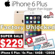 (MAKE $229 )iPhone 6 plus / 6s Plus / 64GB 128GB / Unlocked / Condition:9.9/10 / Refurbished Set