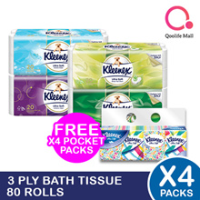 [Kimberly Clark] Kleenex 3-ply Bath Tissue 80 rolls - LOWEST PRICE.