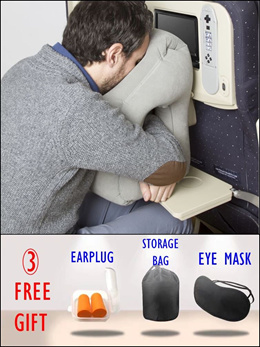 [LOCAL SELLER] Travel Pillow / Lazy Pillow / Portable Pillow / Easy to bring around / FREE GIFTS