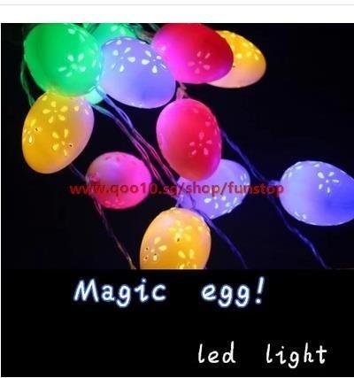 Easter Eggs Plastic Creative Lighting Led Battery Lamp Color String Egg