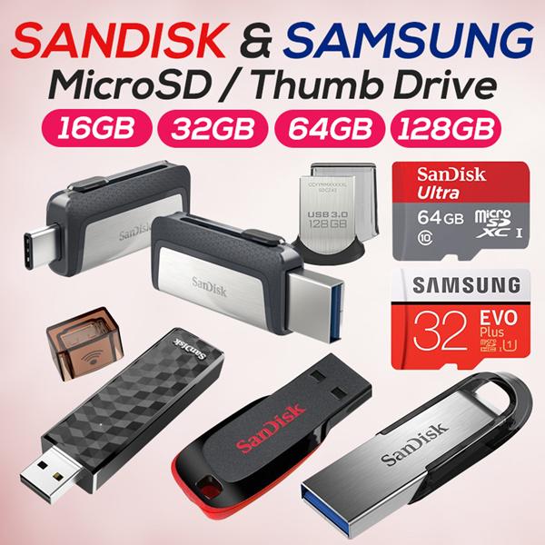 Buy Sandisk Ultra Usb Thumb Drive Extreme Pro Samsung Evo Plus 16gb