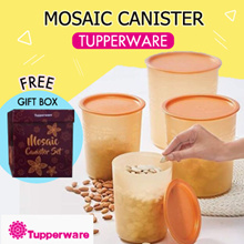 Tupperware One Touch Mosaic Canister Kitchen Storage Container The Magic Space Maker *Air Tight*
