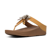 Fitflop™ Conga Dragonfly Toe Thongs Women Sandles Yellow