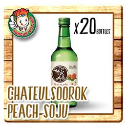 [KOREAN APPLEASE] Chateul Soorok Peach Soju - Alc14% (360ml X 20) $9.25 Per Btl