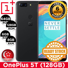 Latest Oneplus 5T Smartphone / 64GB|128GB ROM + 6GB|8GB RAM / Export Set with 6mths Warranty