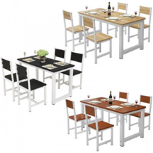Dinette Combination Household Rectangular Dining Table Canteen Restaurant and Chair Combination Can