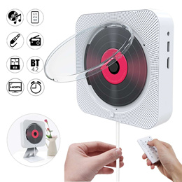 CD Player Wall Mountable Bluetooth Home Audio Boombox/DVD FM USB HiFi Speaker With Remote Control