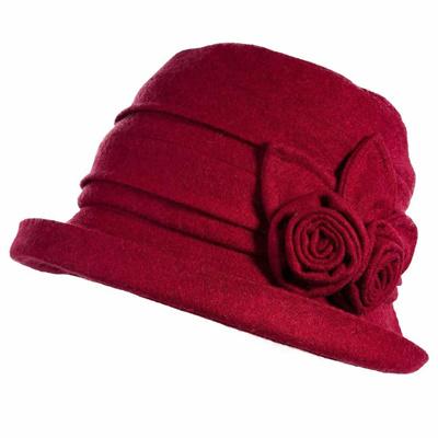 SIGGI Cloche Round Hat for Women 1920s Fedora Bucket Vintage Hat Flower  Accent 7475aee4793b