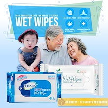❗️CARTON❗️ Tena Wet Wipes Tissue Wipe | Adult Baby Diapers Diaper Essential! | W/ Aloe Vitamin E