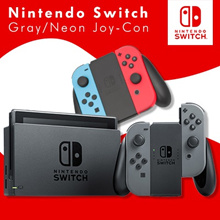Nintendo Switch Console Super Bundle 32GB (Gray // Neon Red / Blue)