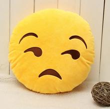 Flouting Emoji Cushion 32cm Cute Emoticon Pillow Stuffed Plush Soft Toy for Bed Sofa Home Office Car