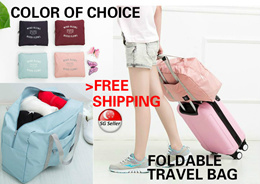 [SG LOCAL]Foldable Premium Luggage Bag Korea Style Holiday Travel Bag