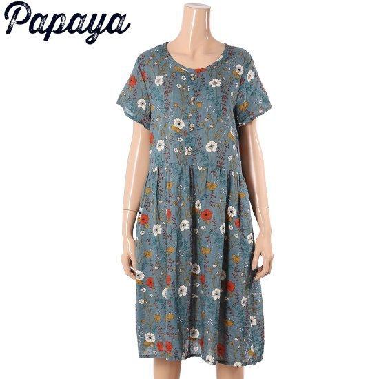 パパイヤ始原エプリントワンピースCNHSOP014B 面ワンピース/ 韓国ファッション
