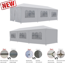 10 x30  Wedding Party Tent Outdoor Camping Gazebo BBQ Pavilion Canopy Cater Events