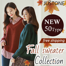 [JUSTONE🍁] KOREA 2018 New Fall Knit Special 50 Type / Free Shipping / Korean Fashion