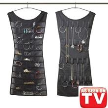 [Hanging Jewelry Organizer]Dress Hanging Jewelry Organizer W/ jewellery 36 Clear Vinyl Pockets18
