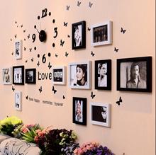 【30 Style】Great Creative Decorating Walls/Wall clock+photo frames