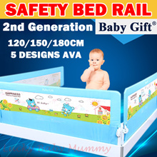 ★2018 New  2nd Gen ★ Child Bed Rail/Child Bed Fence/Baby Bed Rail/Bed Fence/Bed Guard /Baby Gift