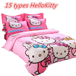 New arrivals Sales★ Hello Kitty★Bed sheet Set/ Includes Quilt Cover + Bedsheet Cover + 2 Pillow Case