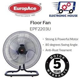 ★ EuropAce EPF2203U 20 Inche Power Floor Fan ★ (5 Years Warranty on Motor)