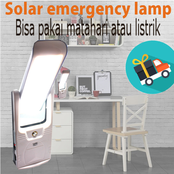 ( FREE SHIPPING ONLY JKT ) Solar emergency lamp Deals for only Rp250.000 instead of Rp250.000