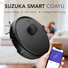 [Introductory Offer] Suzuka Smart - COAYU Vacuum and Mopping Robot // APP Control + LDS + Mopping